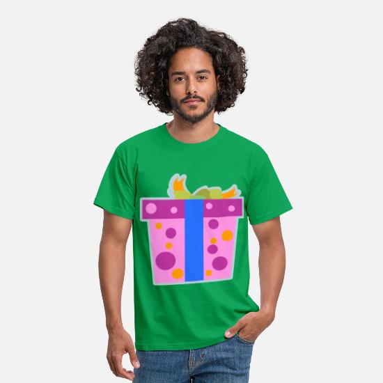 Candy Cane T-Shirts - Christmas Present - Men's T-Shirt kelly green