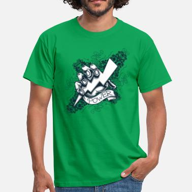 Blitz Faust power  blitz tattoo - Männer T-Shirt