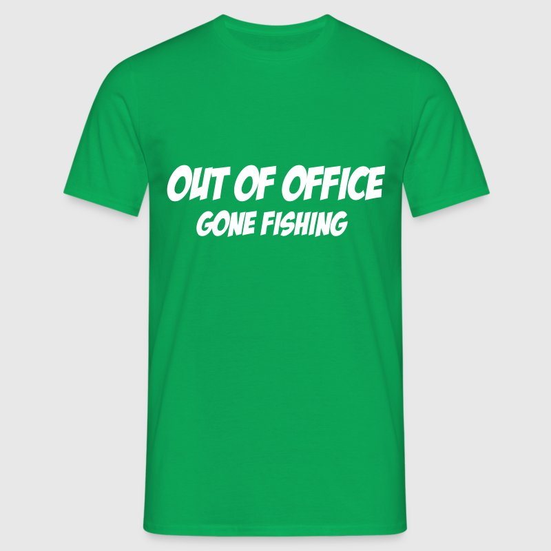 Out of Office, gone fishing - Men's T-Shirt