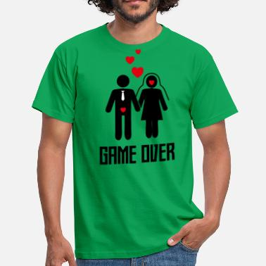 Bruidegom Game Over Vrijgezellenfeest bruidegom overhemd - Game Over! - Mannen T-shirt