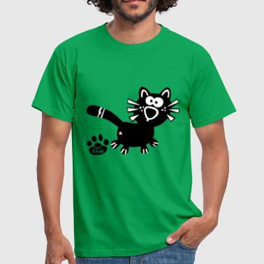 Homo Paw Catpaw Design Cat Cats Comic Fun Katze Kater Miau - Men's T-Shirt