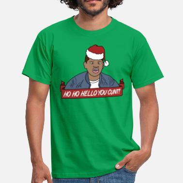 Ho Ho Hello You Cunt - Funny Christmas Design - Men's T-Shirt