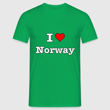I love Norway white - T-skjorte for menn