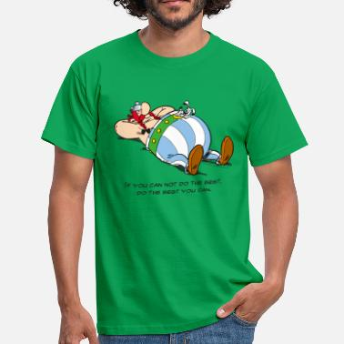 Officialbrands Asterix & Obelix - If You Can Not Do Best - Maglietta da uomo