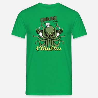 Cthulhu Cooking with Cthulhu! - Men's T-Shirt