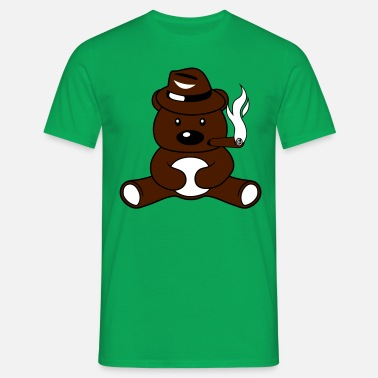 cigarro fumar gángster sombrero cap mafia criminal Camiseta hombre ... 6cc0264ac4b24