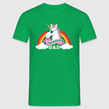 Unicorn Dad - cool sunglasses father - Koszulka męska