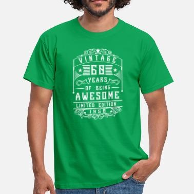 Older 60 Years of being awesome Limited Edition 1958 - Men's T-Shirt