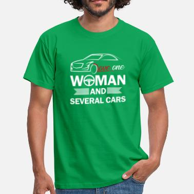 Love Love one woman and several cars - T-shirt herr