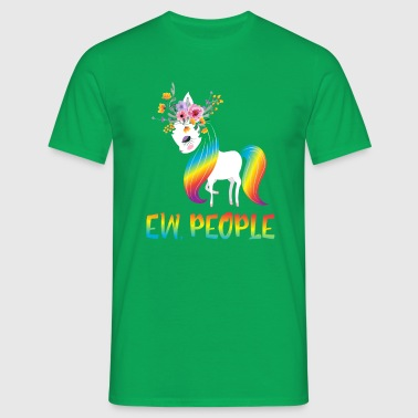 Ew People - magical rainbow unicorn - T-shirt Homme