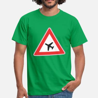 Triangle Sign Road Sign airplane triangle - Men's T-Shirt