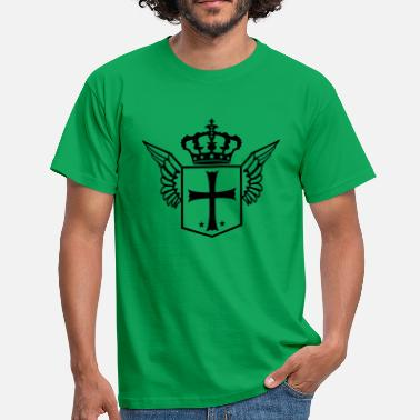 Logo Crown coat of arms shield crown crusader church symbol faithful - Men's T-Shirt