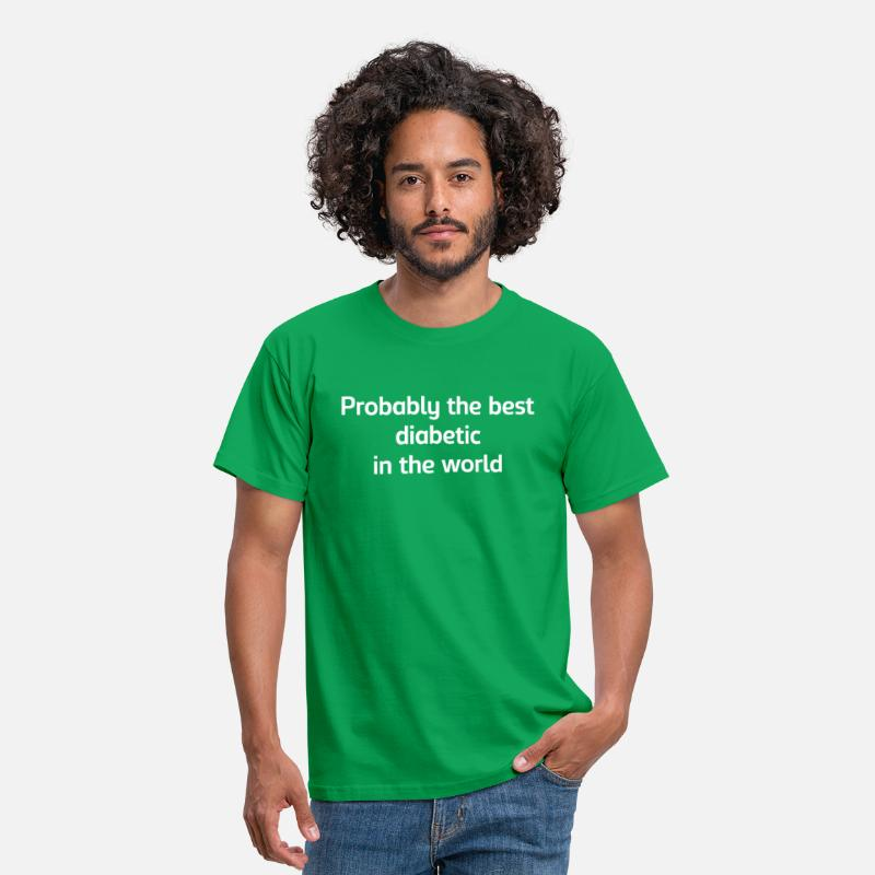 Awareness T-Shirts - Probably the best diabetic in the world - Men's T-Shirt kelly green