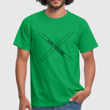 x logo enfocado permanecer enfocado koenig crown poster - Camiseta hombre