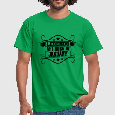 Born In January legends are born in january january - Men's T-Shirt