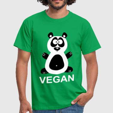 Vegan Panda Statement Veggie Bear Pandabear - Men's T-Shirt