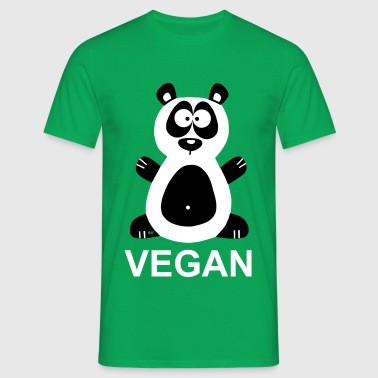 Vegan Panda Statement Veggie Bear Pandabear - T-skjorte for menn