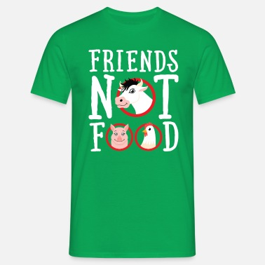 Slogan Animaux Friends Not Food | Vegan Statement - T-shirt Homme