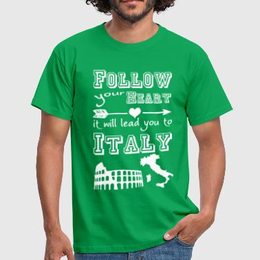 Heart leads you to Italy - Männer T-Shirt