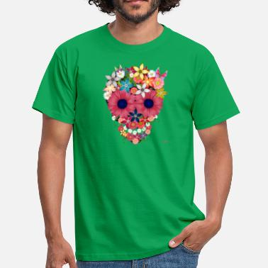skull flowers by wam - Men's T-Shirt