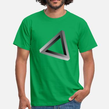 Impossible Illusion Impossible triangle optical illusion - Men's T-Shirt