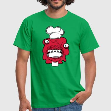 sausage cook eat chef cook aprons hunger licking - Men's T-Shirt