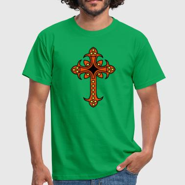 Thorn Crucifix - Christian cross - Men's T-Shirt
