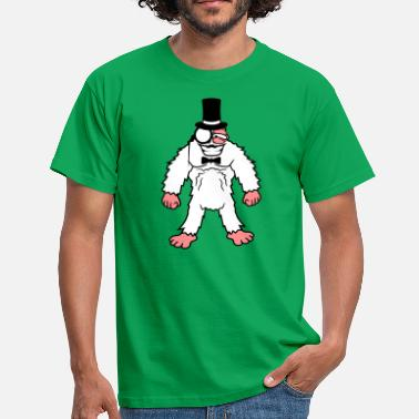 Rey Sir gentlemen cylinder hat monocle glasses rei - Men's T-Shirt