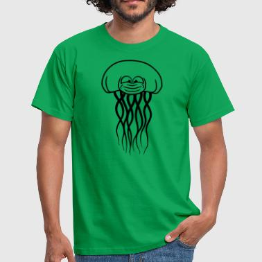 funny face cool beautiful jellyfish swimming underwear - Men's T-Shirt