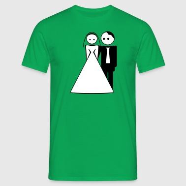 couple / wedding / mariage / bride and groom 2c - Männer T-Shirt