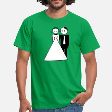 Bride And Groom couple / wedding / mariage / bride and groom 2c - Männer T-Shirt