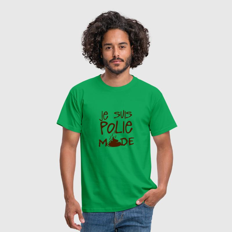 je suis polie merde citation - T-shirt Homme