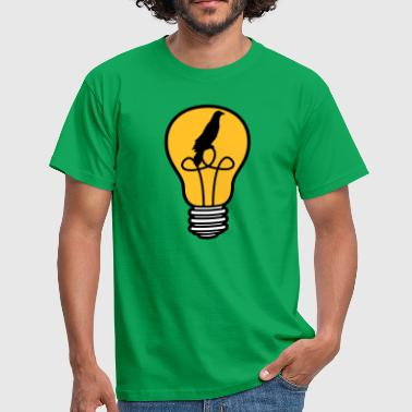 bird kaefig caught little angel bulb light - Men's T-Shirt