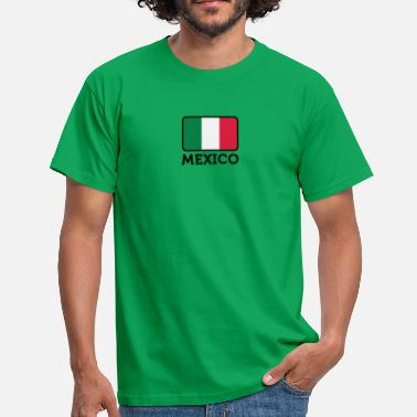 Caribbean Football National Flag Of Mexico - Men's T-Shirt