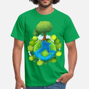 Nature tree forest nature planet - Men's T-Shirt