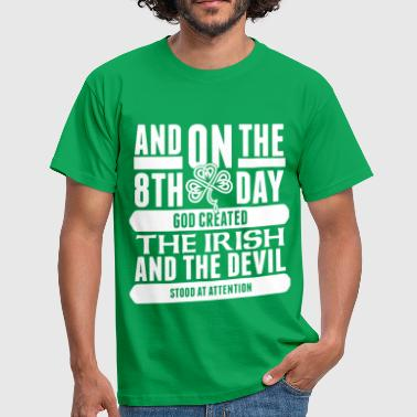 Funny Irish the 8th day irish png - Men's T-Shirt