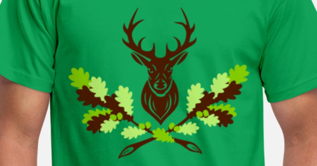 hirsch geweih eiche logo 3farbig m228nner tshirt spreadshirt