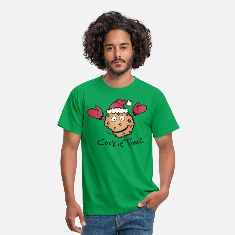 Christmas T-Shirts - Christmas Cookie Time - Men's T-Shirt kelly green