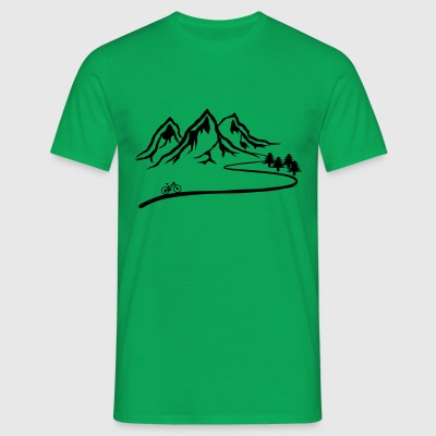 Mountain bike trail - Men's T-Shirt