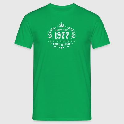 original since 1977 simply the best 40th birthday - Men's T-Shirt