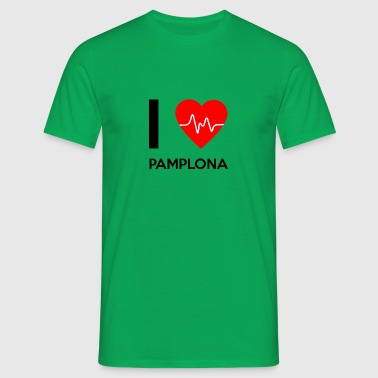 J'aime Pampelune - I Love Pamplona - T-shirt Homme