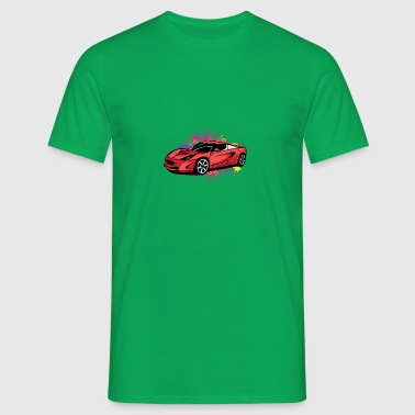 Cool red sportscar - Men's T-Shirt