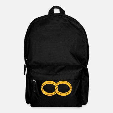Marriage Infinity Shape wedding rings - like a Symbol of infinity - Backpack