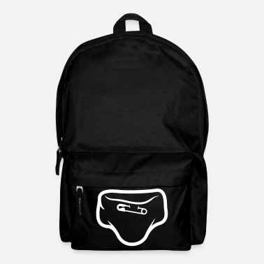 Logo Underwear Diaper With A Safety Pin - Backpack