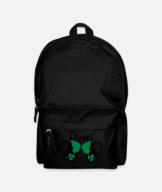 St Patricks Day Bags & Backpacks - Cheers Green beer shamrock st.patrick's day -8 - Backpack black