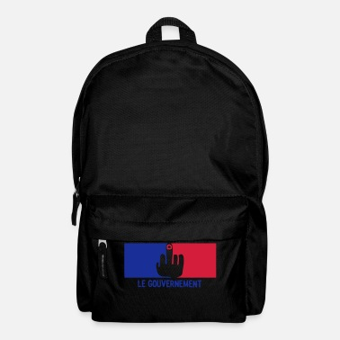 Government fuck french government flag - Backpack