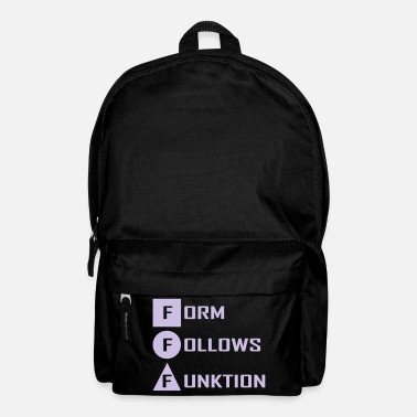 Form form follows ... - Backpack