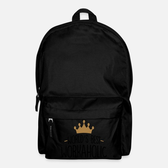 Best Bags & Backpacks - World's best workaholic crown - Backpack black