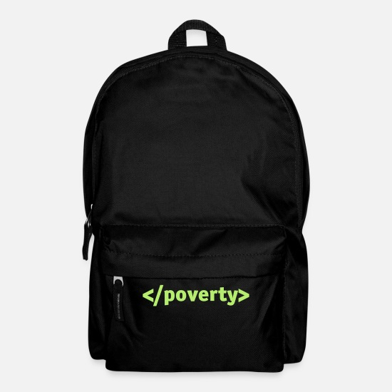 Africa Bags & Backpacks - End Poverty. - Backpack black
