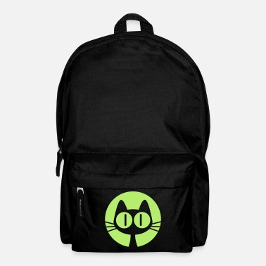 Graphic Art Moon Cat Cartoon by Cheerful Madness!! online shop - Backpack